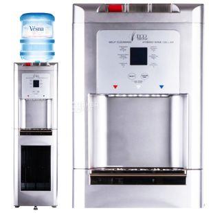 Ecotronic C15-LZ Silver, кулер для воды с встроенным шкафчиком для охлаждения вина