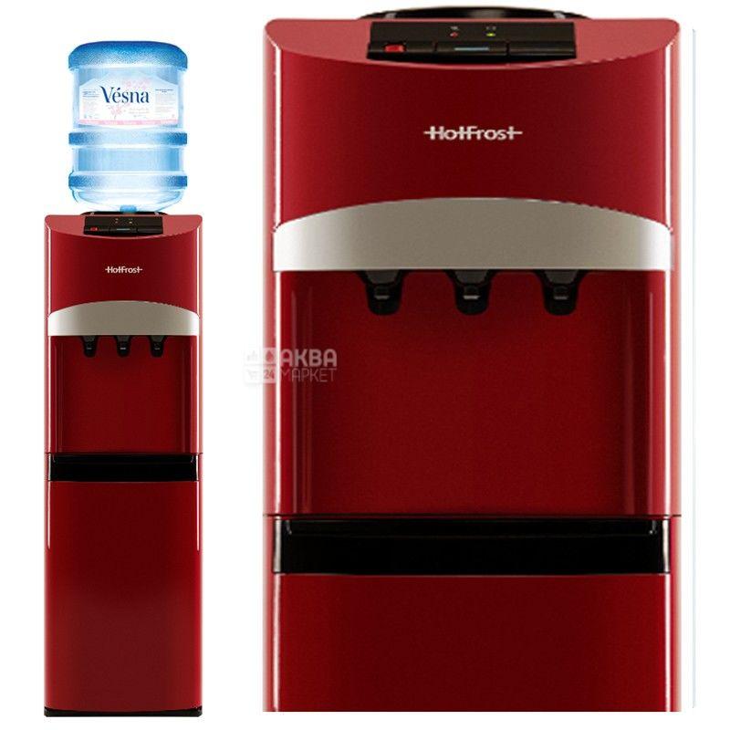 HotFrost V127 Red, Кулер для води з компресорним охолодженням, підлоговий
