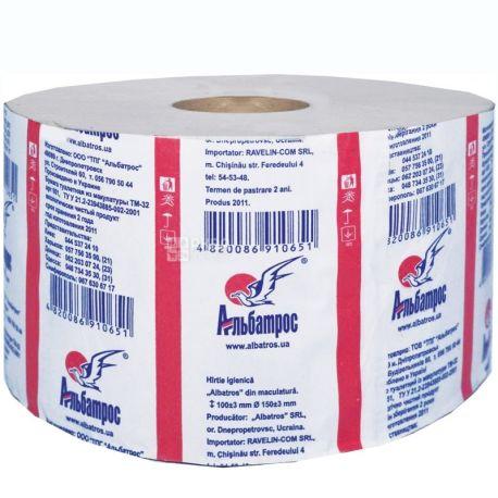 Альбатрос, 100 м, Туалетний папір Джамбо, 1-шаровий