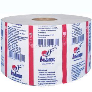 Джамбо, 100 м, туалетная бумага, Однослойная, м/у