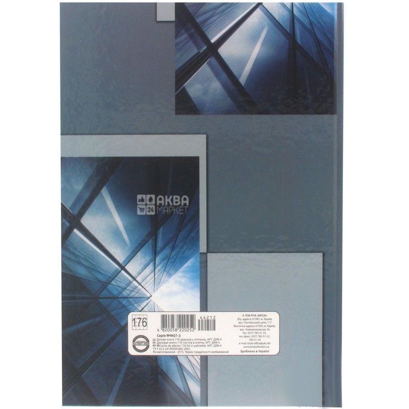 Brisk, 96 л., деловая книга, Клетка, А4, м/у