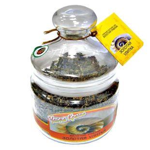 Чайна країна, Золотая улитка, 150 г, Чай черный, стекло