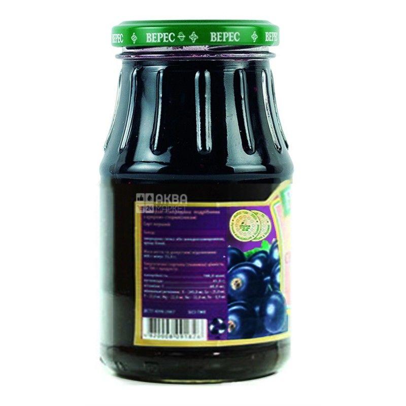 Верес, 350 г, варення, чорна смородина, з цукром