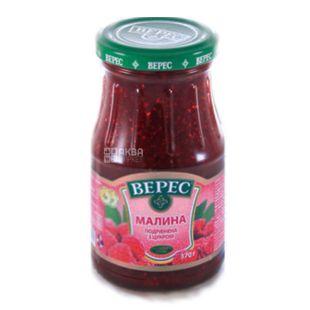 Veres, 370 g, jam, raspberry, with sugar