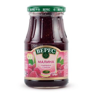 Veres, 370 g, jam, raspberry, with sugar