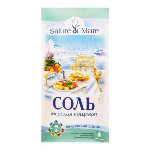 Salute di Mare, 750 г, соль морская, пищевая, средняя