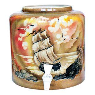 Dispenser, Sailboat, Brown