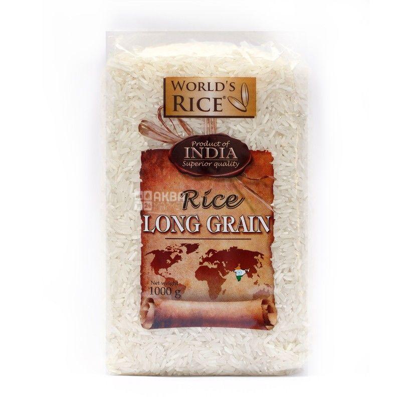 World's Rice, 1 кг, рис, длиннозернистый