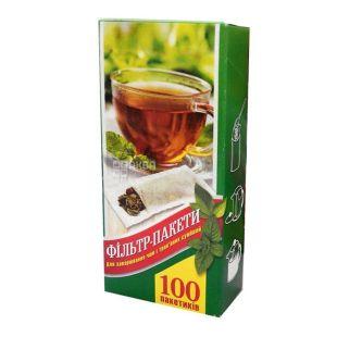Промтус, 100 шт., 80x180 мм, фільтр пакети XL, Для заварювання чаю