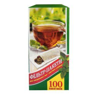 Фильтр пакеты XL 100 шт., для заваривания чая, 80x180 мм, ТМ Промтус