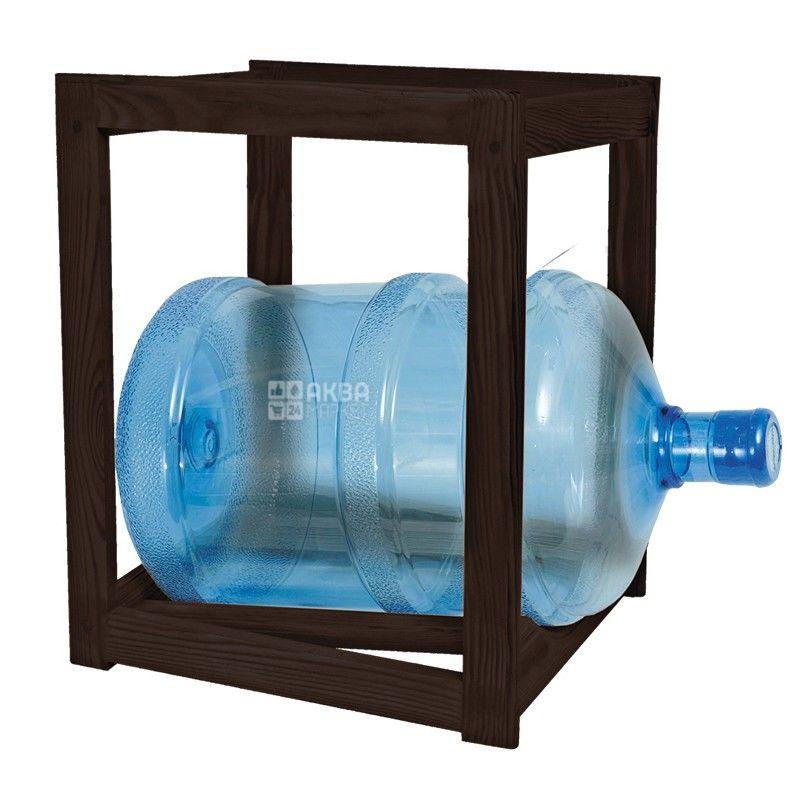 Полка стеллаж деревянная под 1 бутыль с водой, WS-1 ВЕНГЕ