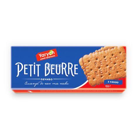 Yarych, 155 г, печенье, Petit Beurre, с какао