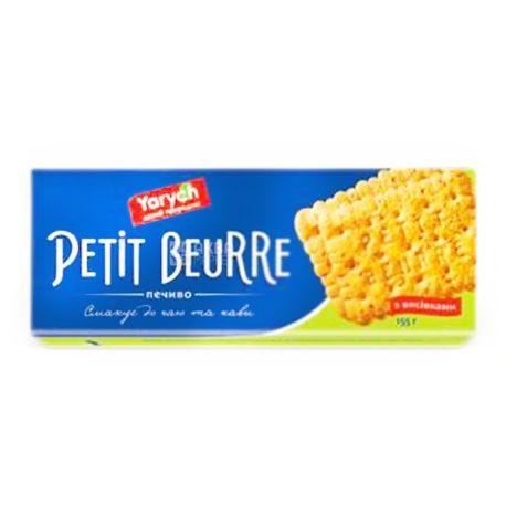 Yarych, 155 г, печенье, Petit Beurre, с отрубями