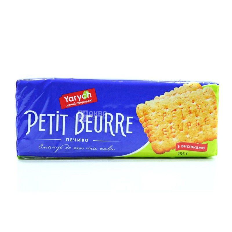 Yarych, 155 г, печиво, Petit Beurre, з висівками