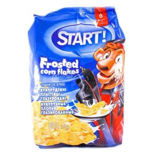Start, 850 г, Хлопья Старт, кукурузные, глазированные, сухой завтрак для детей от 6-ти лет