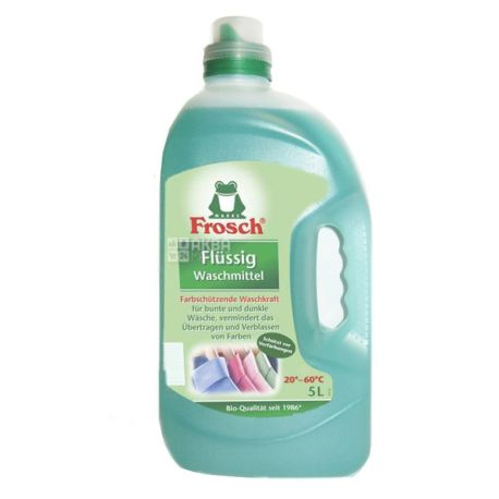 Frosch, 5 л, жидкий стиральный порошок, для цветных тканей