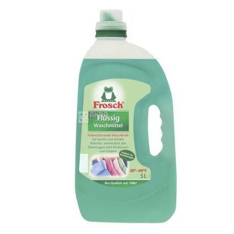 Frosch, 5 л, Рідкий пральний порошок, для кольорових тканин, Автомат