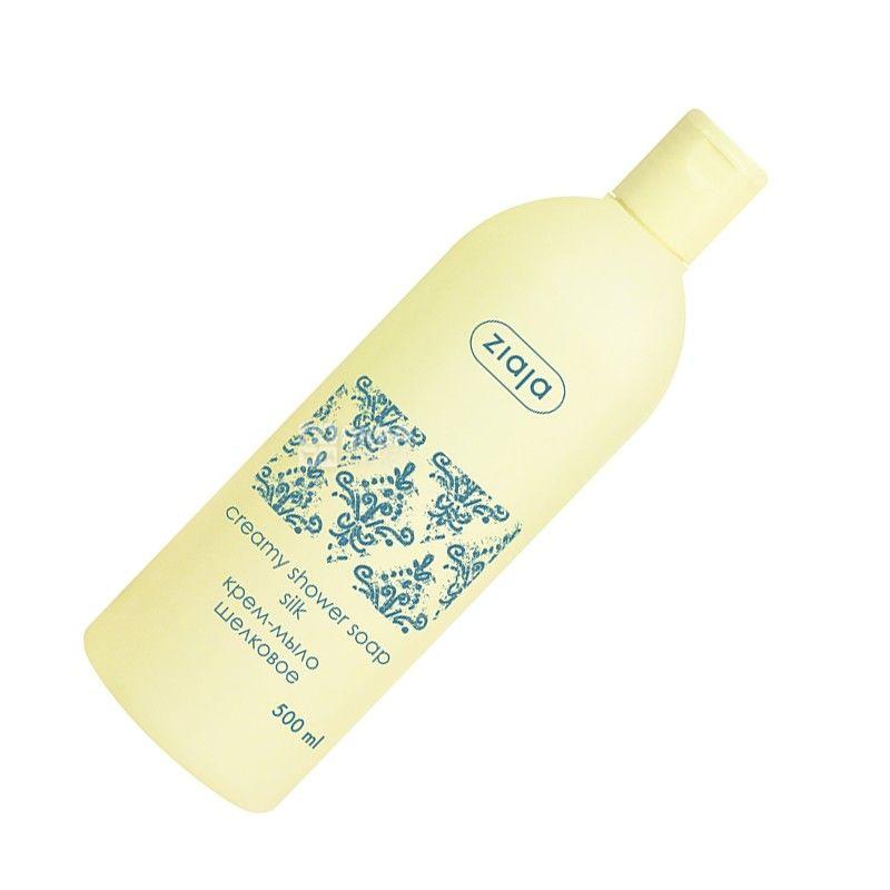 Ziaja, Silk Proteins, 500 мл, Крем-мыло шелковое