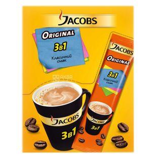Jacobs Original, 3 в 1, 24 шт. х 12 г, Кавовий напій Якобс Оріджінал, Класичний, в стіках