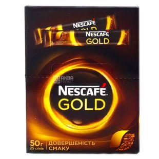 Nescafe, 25 шт. по 2 г, розчинна кава, Gold
