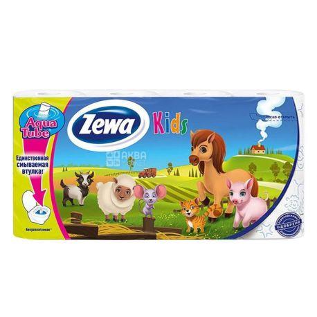 Zewa, 8 рулонів, туалетний папір, Kids, м/у