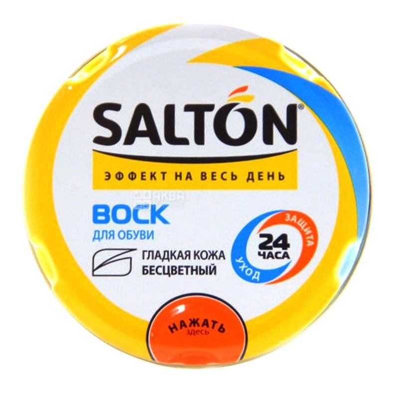 Salton, 75 мл, воск для обуви, Нейтральный, ж/б