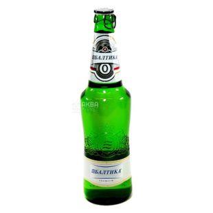Baltika, 0,5 л, пиво безалкогольне, №0, скло