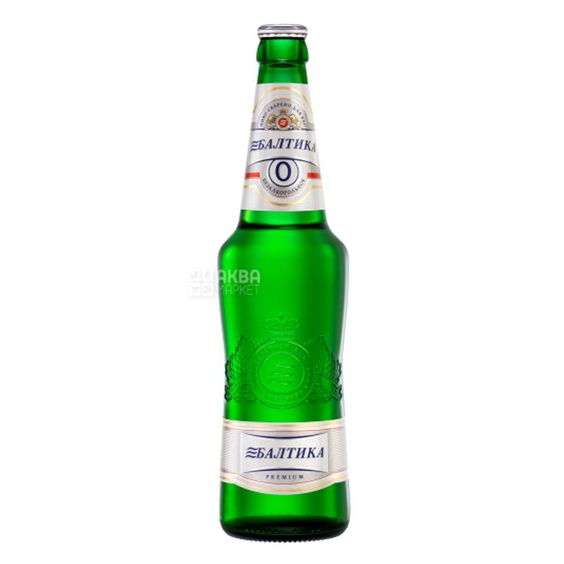 Baltika, 0.5 l, non-alcoholic beer, №0