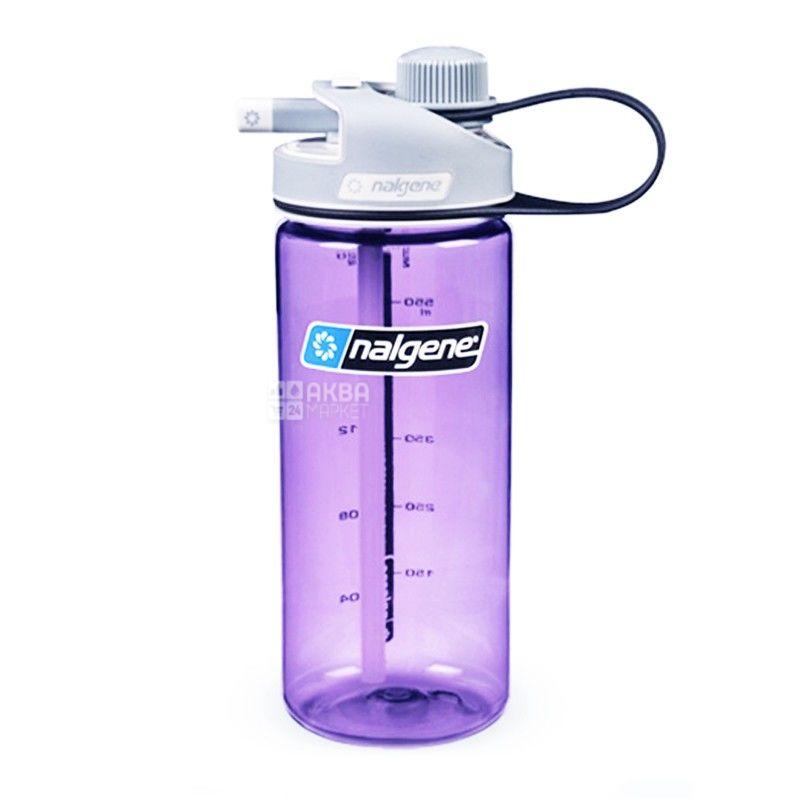 Nalgene, 0,6 л, бутылка для воды, MultiDrink, фиолетовая