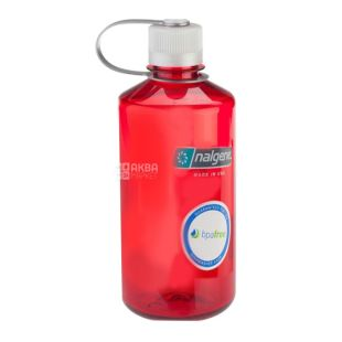 Nalgene, 0,5 л, пляшка для води, Narrow Mouth, червона