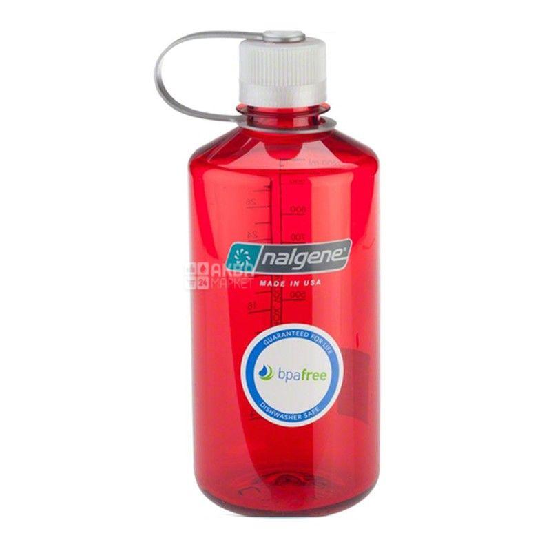 Nalgene, 0,5 л, пляшка для води, Narrow Mouth, червона