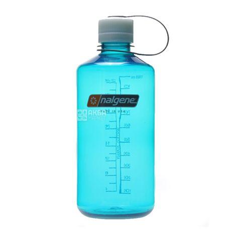 Nalgene, 1 л, бутылка для воды, Narrow Mouth, голубая