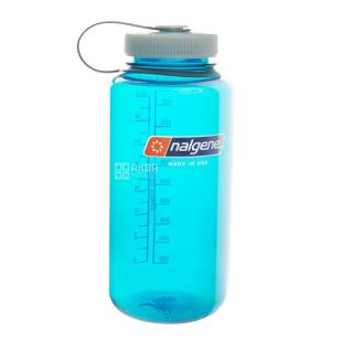 Nalgene, 0,5 л, пляшка для води, Wide Mouth, блакитна