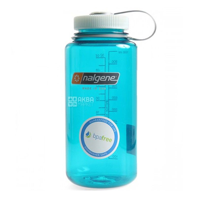 Nalgene, 0,5 л, бутылка для воды, Wide Mouth, голубая