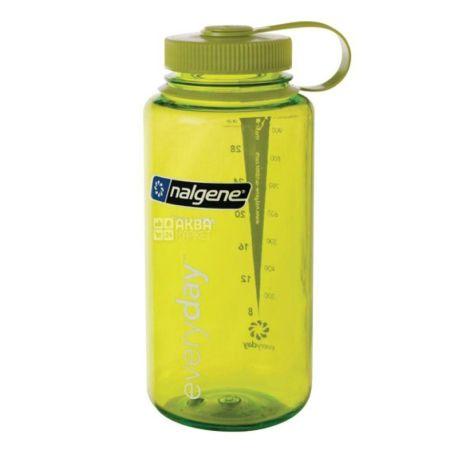 Nalgene, 1 л, пляшка для води, Wide Mouth, зелена