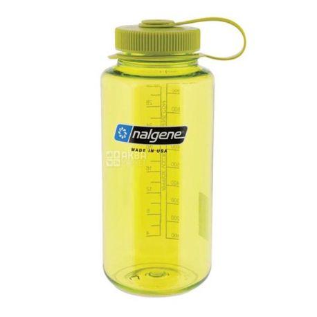 Nalgene, 1 л, бутылка для воды, Wide Mouth, зеленая