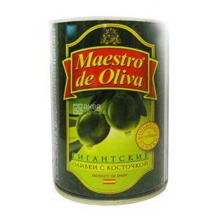 Maestro de Oliva, 420 g, olives, pitted, Giant
