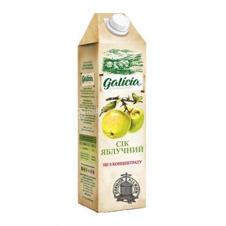Galicia, Яблочный,1 л, Галиция, Сок, натуральный, без добавления сахара