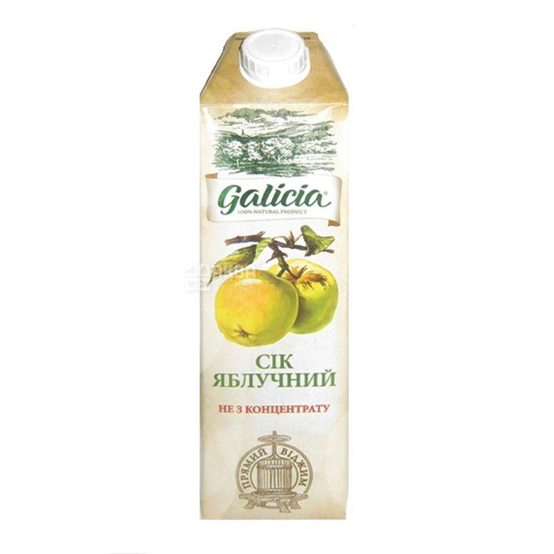 Galicia, Яблучний, 1 л, Галіція, Сік, натуральний, без додавання цукру