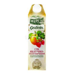 Galicia, 1 л, сок, Яблочно-клубничный, м/у