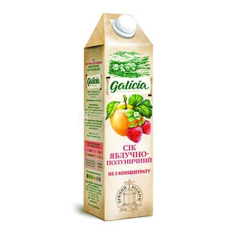 Galicia, Яблучно-полуничний, 1 л, Галіція, Сік натуральний, без додавання цукру