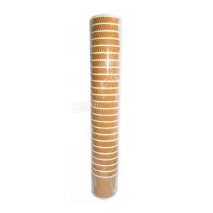 Промтус, 25 шт., 110 мл, паперовий стакан, Гофрований, Коричневий, м/у