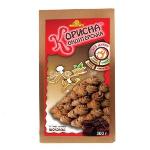 Korisna Konditerska, 300 g, shortbread, with stevia, Chocolate