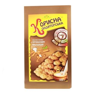 Korisna Konditerska, 300 g, shortbread, with stevia, Baked milk