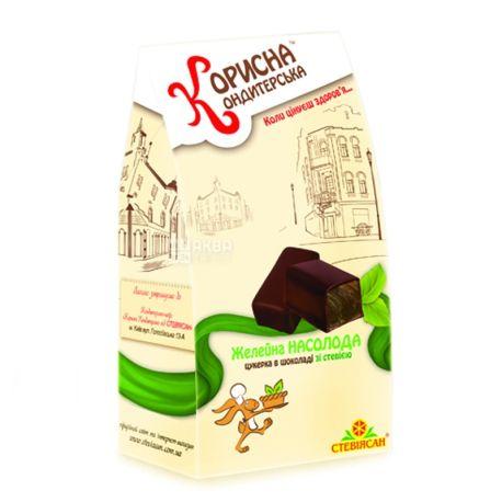 Корисна Кондитерська, 150 г, конфеты шоколадные, со стевией, Желейное наслаждение