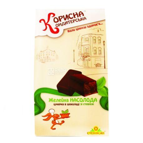 Корисна Кондитерська, 150 г, цукерки шоколадні, зі стевією, Желейна насолода