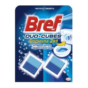 Bref, 2 шт. по 50 г, очищуючі кубики для зливного бачка, Duo-Cubes, м/у