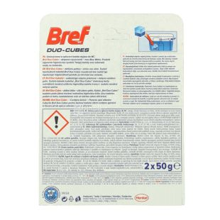 Bref, 2 pcs on 50 g, cleaning cubes for a drain tank, Duo-Cubes, m / a