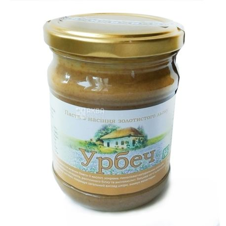 Native hut, 250 g, Urbech paste, from golden flaxseed