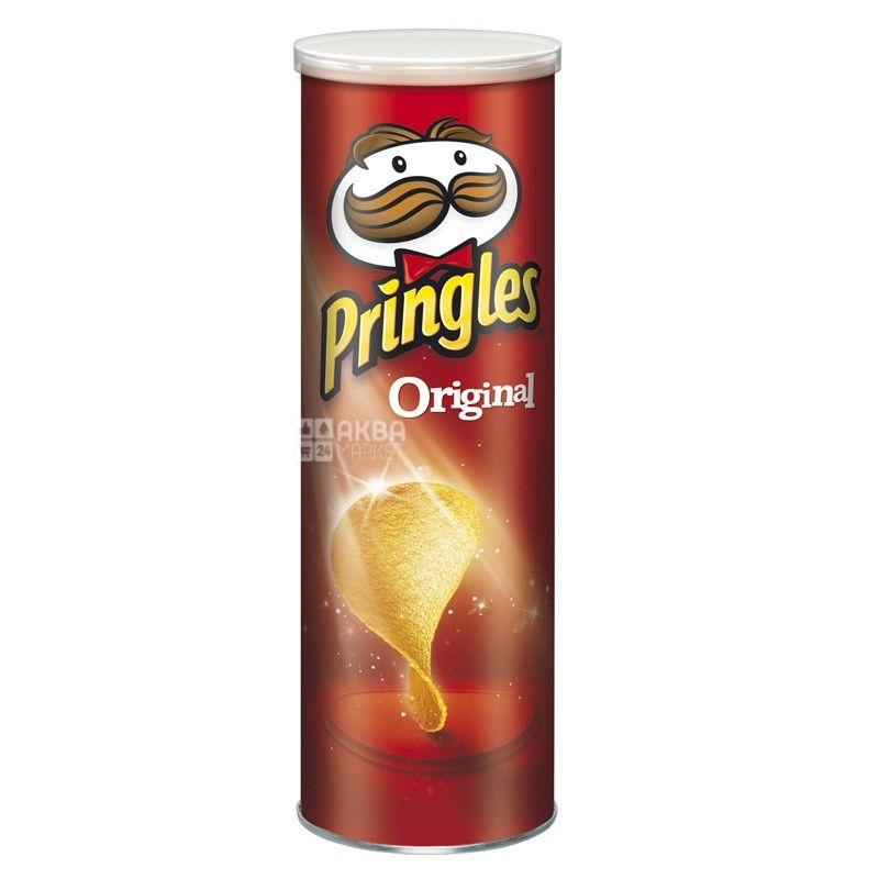 Pringles, 165 г, Чипсы картофельные, Original, тубус